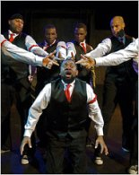 "The Negro Ensemble Company performing in ""Webeime"" by Layon Gray, their first show at the Harlem School of the Arts."