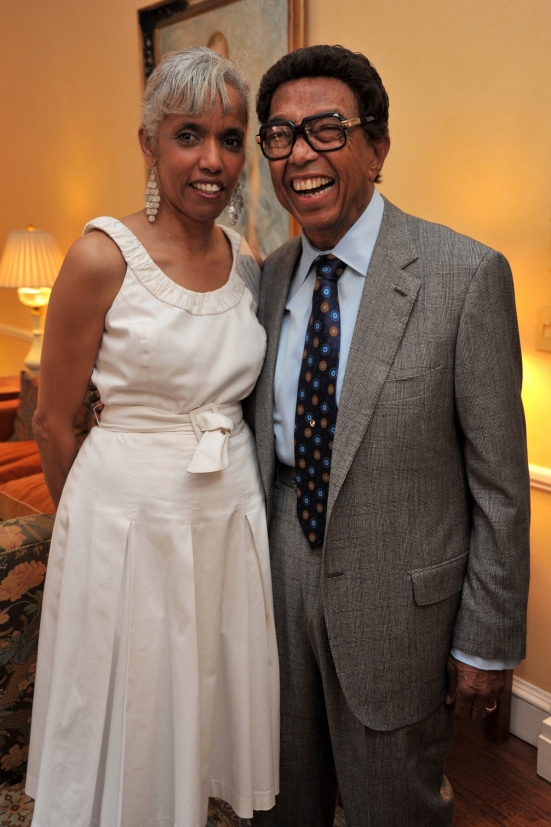 Jazzmobile President and CEO Robin Bell-Stevens with Dr. Billy Taylor by IMAGEZS OF US