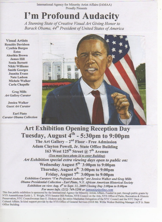 Obama Art Exhibition Aug 4, 2009